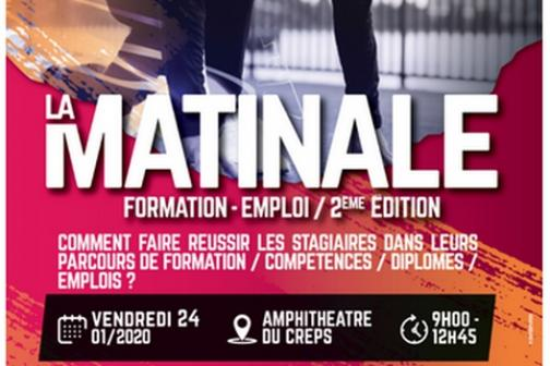 Matinale Emploi Formation CREPS